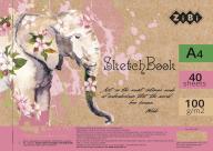 #/Скетчбук, А4, 40 л., 100 г/м2, белый блок, на пружине, розовый, ART Line