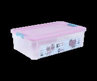 """/Контейнер Smart Box с декором """"Pet Shop"""" 14л, прозрачный/розовый/бирюзовый"""