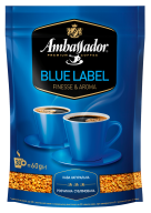 "/Кофе растворимый 60г*30, пакет, ""Blue Label"", AMBASSADOR"
