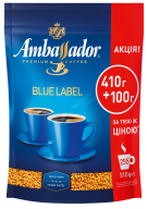 "/Кофе растворимый 510г*10, пакет, ""Blue Label"", AMBASSADOR"