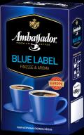 """/Кофе молотый 230г*12, вак.уп., """"Blue Label"""", AMBASSADOR (PL)"""