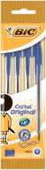 """/Ручка """"Cristal"""", синяя, 0.4 мм, 4шт в блистере"""