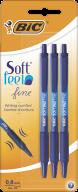 """/Ручка """"Soft Clic"""", с грипом, синий, 3шт/уп"""