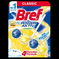 /Очистительный блок д/туалета BREF 50г Сила Актив 4в1 Лимонная свежесть