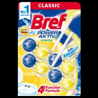 /Туалетный блок BREF 2*50г Сила актив Лимон Дуопак