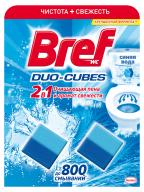 /Очищающие кубики д/туалета BREF Duo-Cubes 2в1, 100г