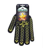 /Перчатки трикотажные рабочие ДОЛОНИ, 562, черные со звездой, плотность 5 ниток