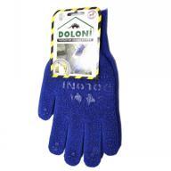 /Перчатки трикотажные рабочие ДОЛОНИ, 646, синие с точкой, плотность 2 нити
