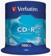 /(43411) Диск CD-R, 700Mb, 52х, 80min, Cake (100)