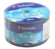 /Диск CD-R, 700Mb, 52х, 80min, Wrap 50 pcs
