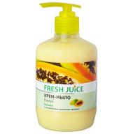 /Крем-мыло жидкое FRESH JUICE 460 мл с увлажняющим молочком авокадо Papaya