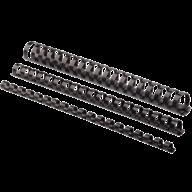 @$Пластиковые пружины круглые d 10мм черные, толщ. 41-55 л. А4