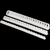@$Пластиковые пружины круглые d 12,5мм белые, толщ. 56-80 л. А4