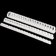 @$Пластиковые пружины круглые d 14мм белые, толщ. 81-100 л. А4