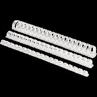 #@$Пластиковые пружины круглые d 16мм белые, толщ. 101-120 л. А4