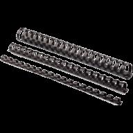 #@$Пластиковые пружины круглые d 16мм черные, толщ. 101-120 л. А4