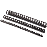 #@$Пластиковые пружины круглые d 28мм черные, толщ. 201-240 л. А4