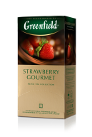 "/Чай черный 1.5г*25*10, пакет, ""Strawberry Gourmet"", GREENFIELD"