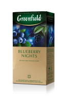 "/Чай черный 1.5г*25*10, пакет, ""Blueberry Nights"", GREENFIELD"