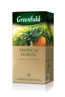 "/Чай зеленый 1.5г*25*10, пакет, ""Tropical Marvel"", GREENFIELD"