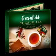/Набор пакетированого чая 96 пакетиков, 24 сорта по 4шт, ассорти, GREENFIELD