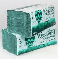 /Полотенца бумажные макулатурные V-образные , 23х25 см, 200 листов, зеленый КОХАВИНКА