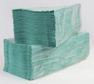 /Полотенца бумажные макулатурные V-образные , 23х25 см, 170 листов, зеленый КОХАВИНКА