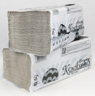 /Полотенца бумажные макулатурные V-образные , 23х25 см, 200 листов, серый КОХАВИНКА