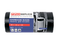 /Пакеты для мусора, п/е, 60*80, 8 мкм, черные, HD, 60л/40шт (25шт/ящ)  PRO SERVICE