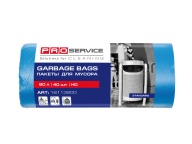 /Пакеты для мусора, п/е, 60*80, 8 мкм,синие, HD, 60л/40шт (25шт/ящ)  PRO SERVICE