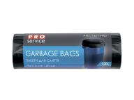 /Пакеты для мусора, п/е, 70*110, 10 мкм, черные, HD, 120л/20шт (30шт/ящ)  PRO SERVICE