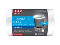 /Пакеты для мусора, п/е, 50*55, 7 мкм, белые, HD, 35л/100шт (20шт/ящ)  PRO SERVICE