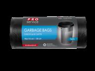 /Пакеты для мусора, п/е, 90*110, 24 мкм, черные, LD, 160л/20шт (10шт/ящ)  PRO SERVICE