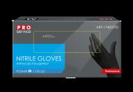 /Перчатки нитриловые Professional,100 шт в уп. размер М, черные PRO SERVICE без НДС