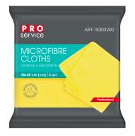 /Салфетки из микрофибры, универсальные, 38х38, 3шт, жёлтые (48уп/ящ) PRO SERVICE