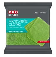 /Салфетки из микрофибры, универсальные, 38х38, 3шт, зелёные (48уп/ящ) PRO SERVICE