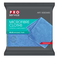 /Салфетки из микрофибры, универсальные, 38х38, 3шт, синие (48уп/ящ) PRO SERVICE