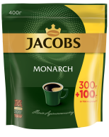 /Кофе растворимый 400г, пакет, JACOBS MONARCH