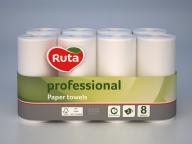 "/Полотенца бумажные ""RUTA"" Professional, 8 рул., на гильзе, 2-х сл., белый"
