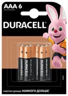 /Эл.питания (батарейка) DURACELL LR3 (АAA), 6шт/упак